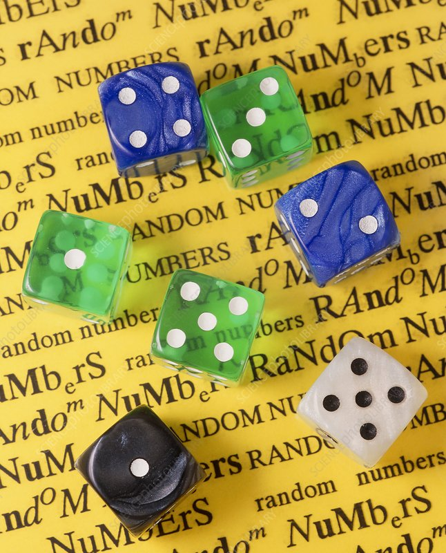 Dice for generating random numbers