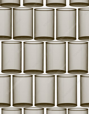 Metal cans X-ray