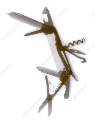 Penknife, X-ray
