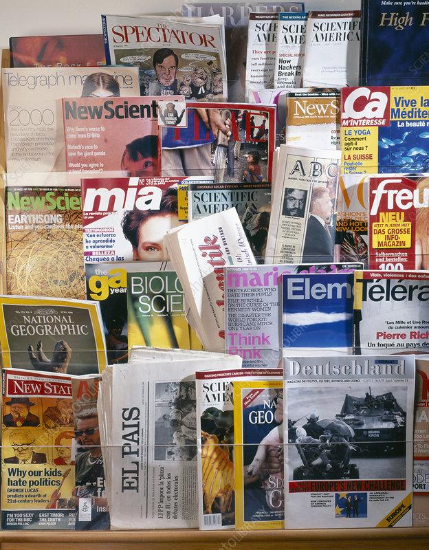 Assorted magazines