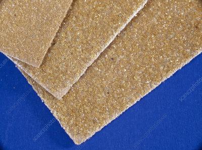 Sandpaper, close-up