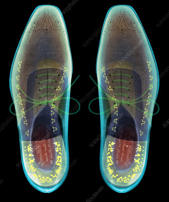Man's shoes X-ray