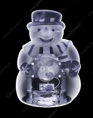 Snowman toy, simulated X-ray