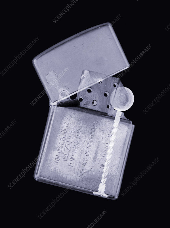 Cigarette lighter, simulated X-ray