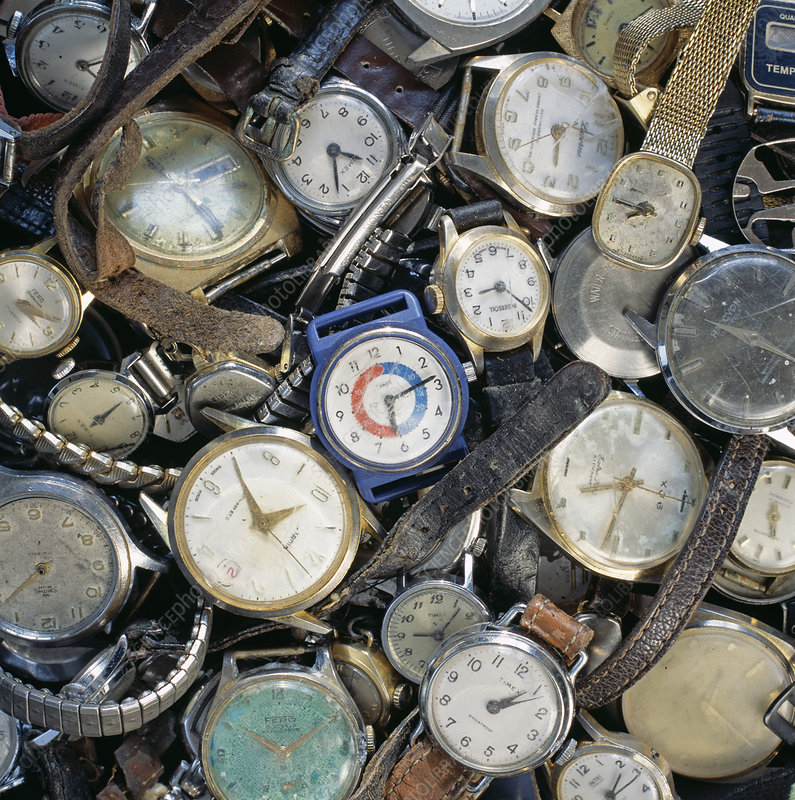 Broken wrist-watches