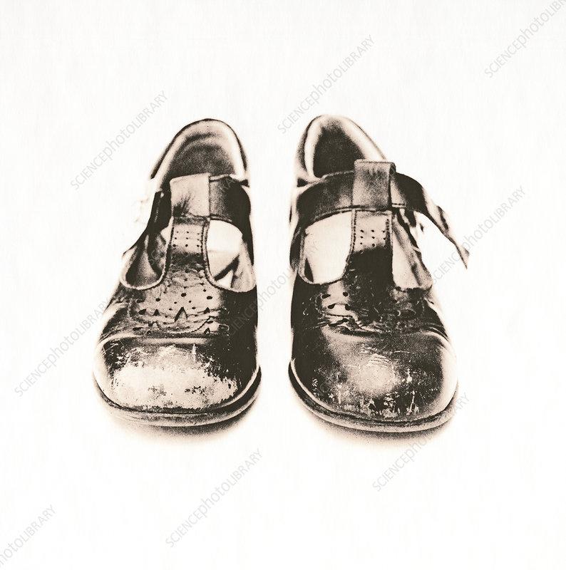 Child's worn shoes