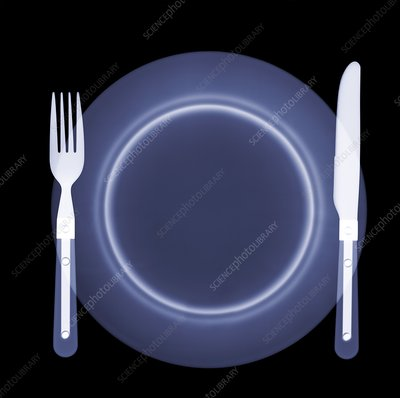 Empty plate, X-ray