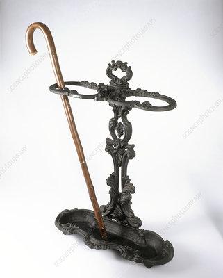 Cast iron Victorian walking stick stand