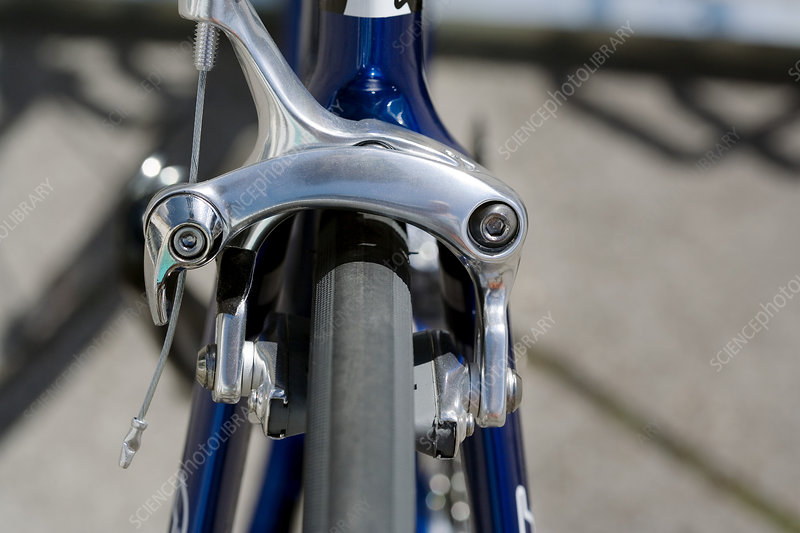 Bicycle Brake Systems : Brake system on bicycle wheel stock image h