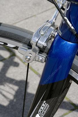 Brake system on bicycle wheel