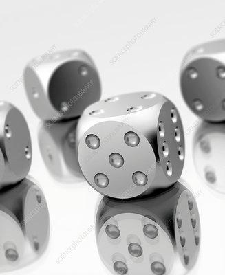Steel dice