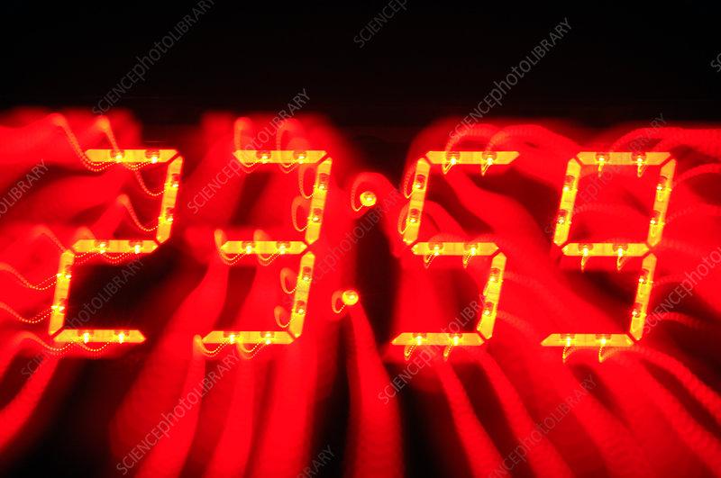 Clock LCD, abstract image