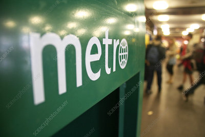 Metro newspaper display unit