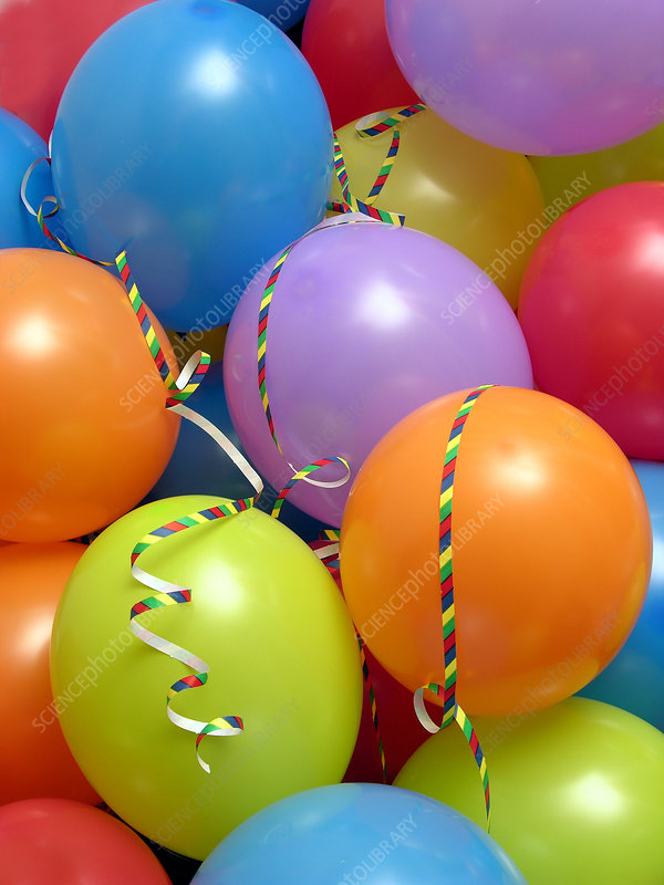 Party balloons and streamers