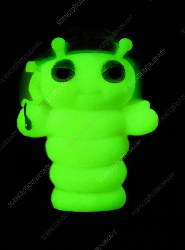 Phosphorescent plastic toy