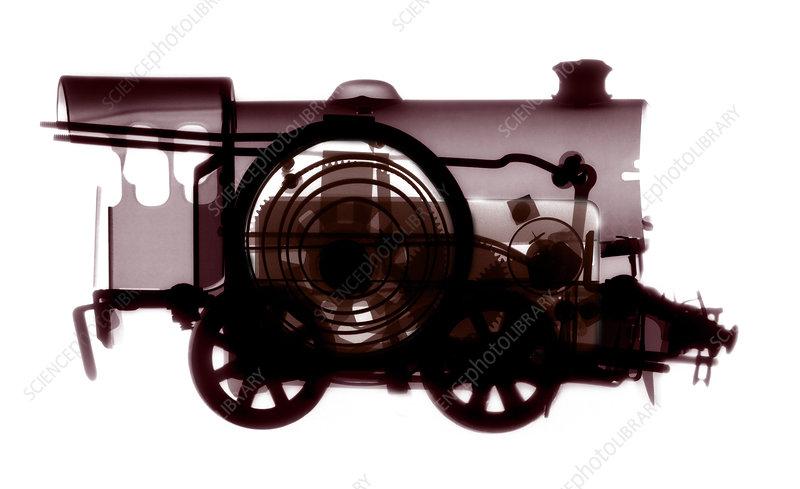 Spring train, X-ray