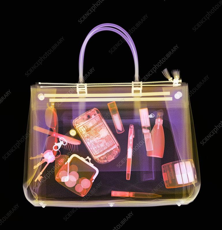 Handbag, coloured X-ray