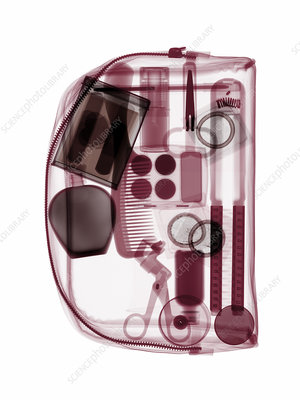Make-up bag, coloured X-ray