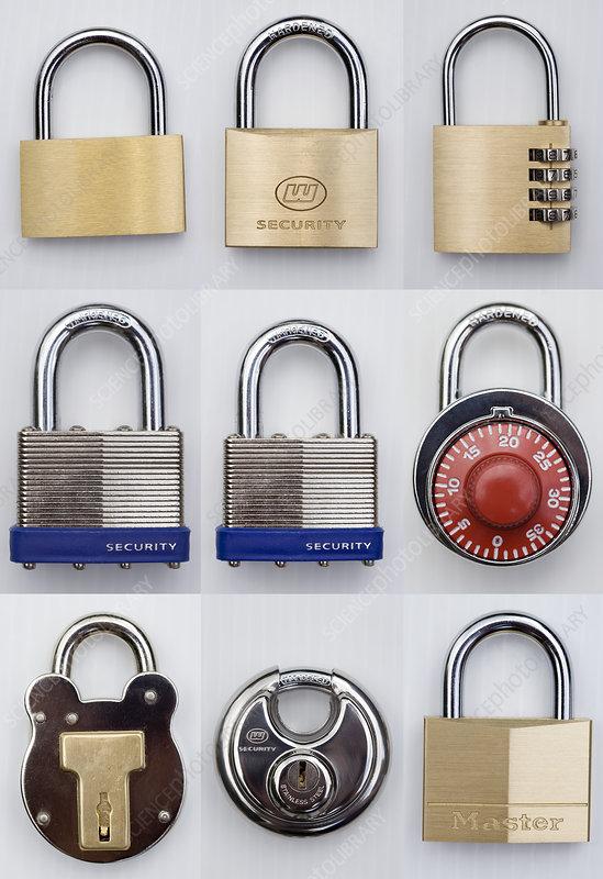 Assortment of padlocks