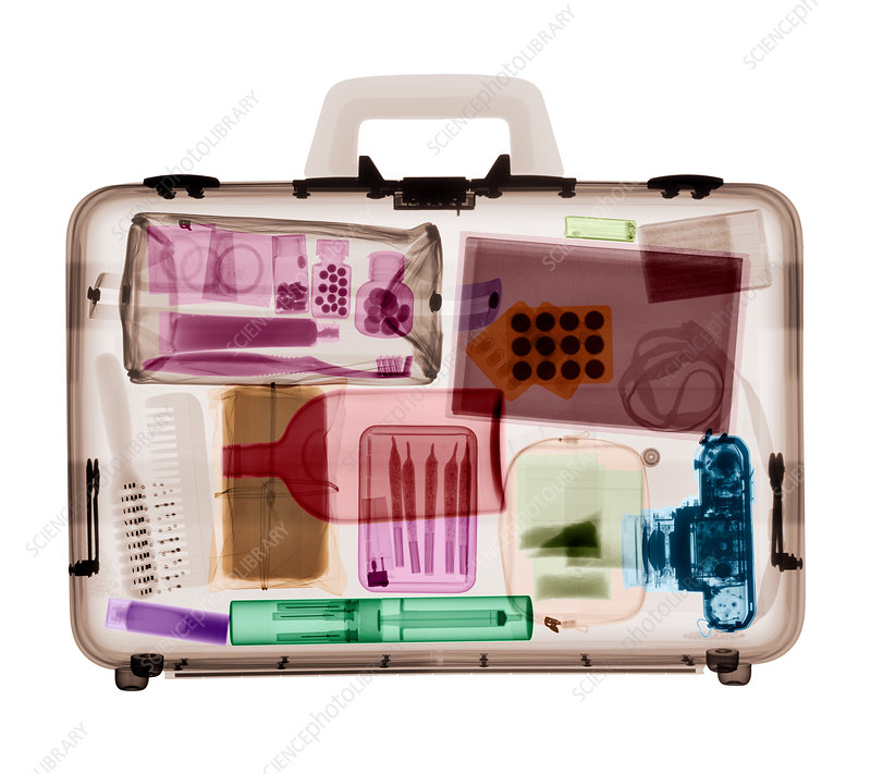 Suitcase, coloured X-ray