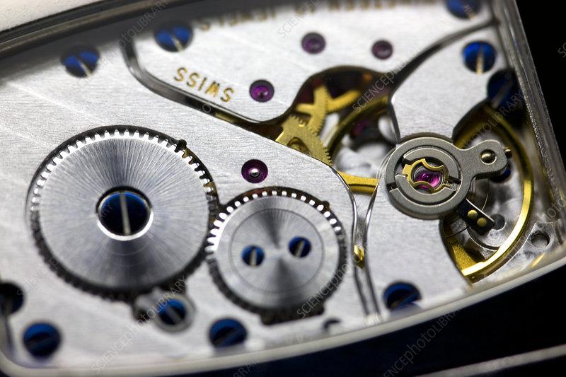 Wrist watch interior