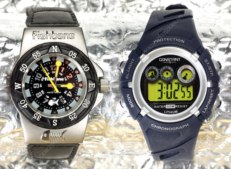 Analogue and digital sports watches