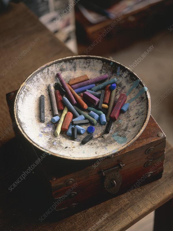 Artist's chalk pastels