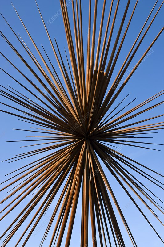 The B of the Bang sculpture