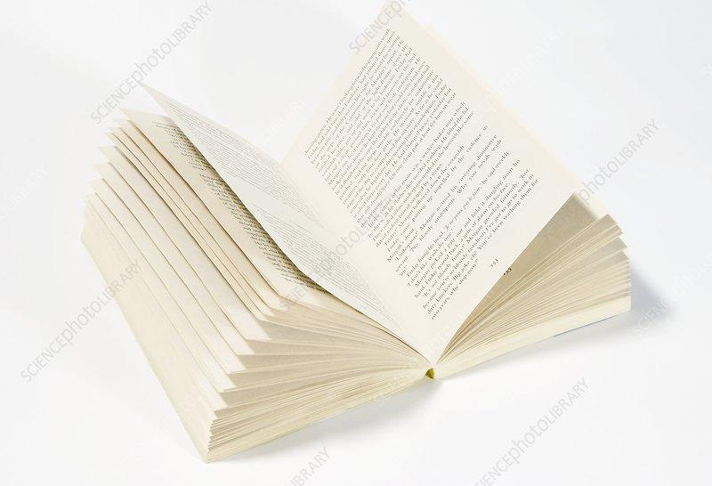 Open fiction book
