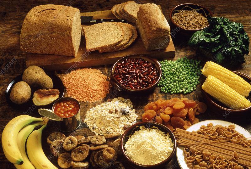 High-fibre foods