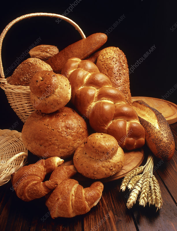 Assortment of loaves of bread