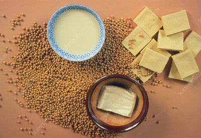 Assortment of soya products