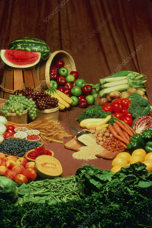 Fruit, vegetables, pulses and nuts