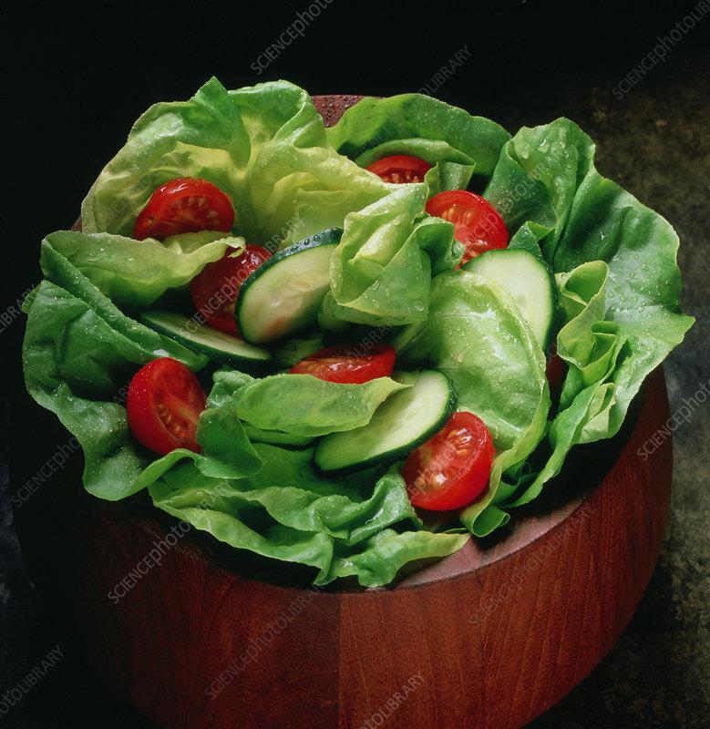 Fresh green salad