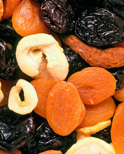 Dried fruit (apple, pear, apricot, prune)