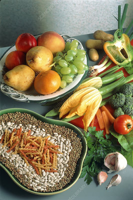 Fruit, vegetables, pulses and pasta
