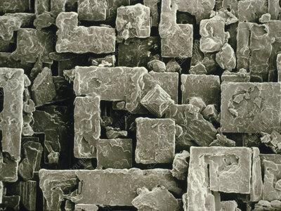 SEM of Maldon sea salt