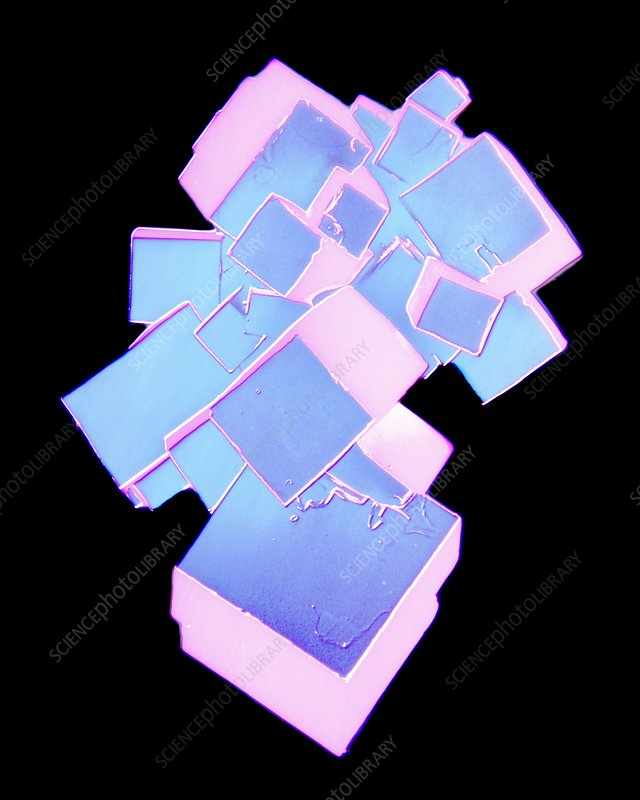 Coloured SEM of salt