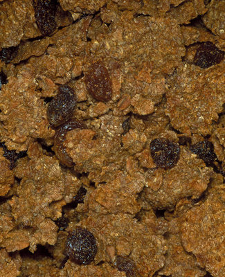 Breakfast cereal - a mixture of flakes and fruit