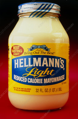 Bottle of low fat mayonnaise