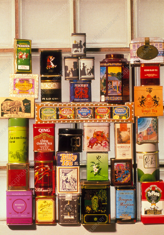 Selection of packaged teas