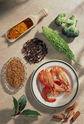 Seafood and spices rich chromium