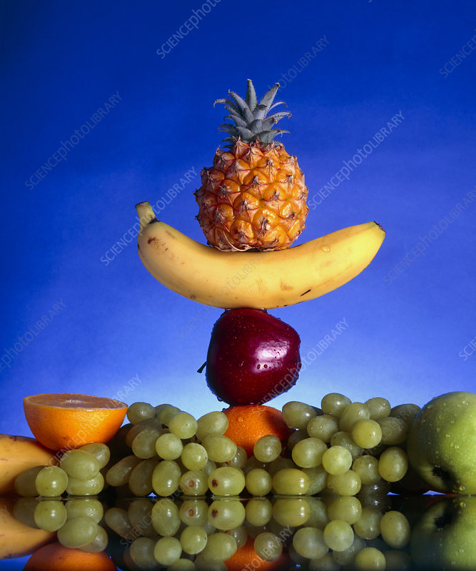 Selection of fruit, part of a healthy diet