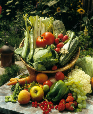 Selection of various fruit & vegetables