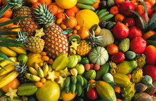 Assortment of tropical fruits