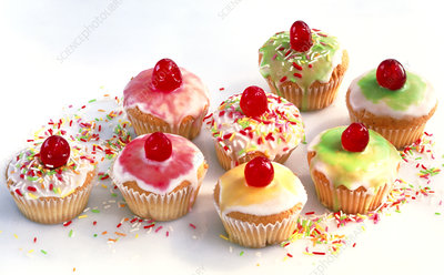 View of an assortment of cakes