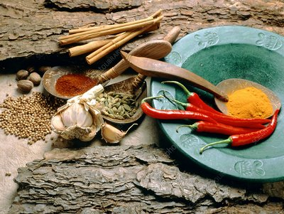 Assortment of spices with medicinal qualities
