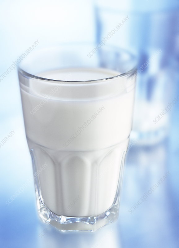 Glass of milk - Stock Image H110/1843 - Science Photo Library