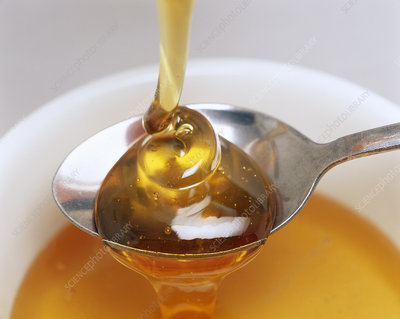 Honey on a spoon