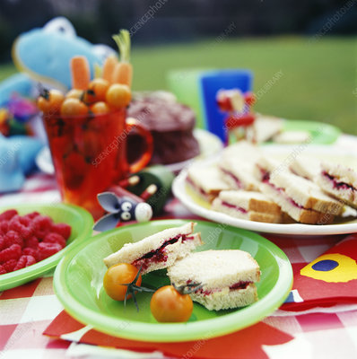 Children's picnic food